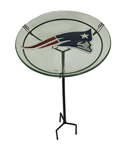NFl Staked Bird Bath NFL Team: New England Patriots