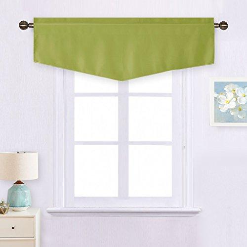 NICETOWN Fresh Green Kitchen Valance - Blackout Window Curta