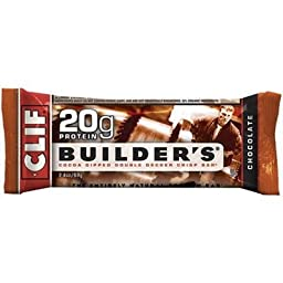 Clif Bar Builder\'s Protein Bars, Chocolate, 12 ct