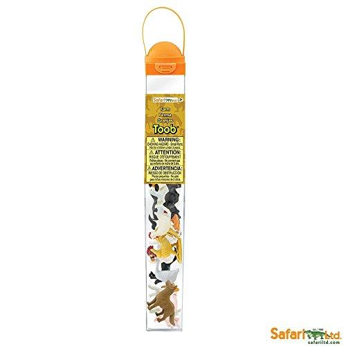 Plastoy Safari Ltd - 695204 -Tube de Figurines Animaux de la Ferme
