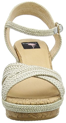 White Femme 29 Ouvertes Blanc Wedge Sandales Giudecca qR1vx6aw