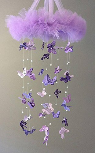 Purple Butterfly - Purple Nursery Decor