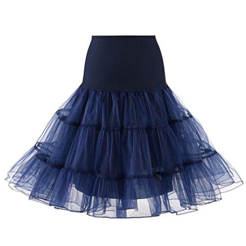 Jupe Femme, YUYOUG 1950 Rockabilly Jupon Jupon Retro Vintage Petticoat Tutu Swing battente retro jupon bal de promo jupon tulle court ?? C