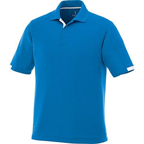 Kiso Mens Micro Poly Textured Moisture Wicking Polo Shirt Royal Blue Size Small