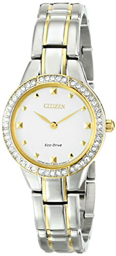 Drive 59a Eco - Citizen Eco-Drive Women's EX1364-59A Silhouette Analog Display Two Tone Watch