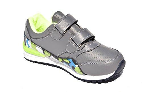 BTS - Zapatillas de Piel para niño 36 Varios Colores - Grau/ Grün