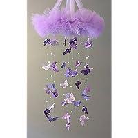 Purple Butterfly - Purple Nursery Decor