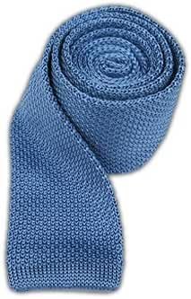 The Tie Bar 100% Silk Knit Sky Blue Skinny Tie