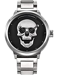 Brand PAGANI DESIGN Punk 3D Skull Personality Retro Fashion Mens Watch Large Dial Design Waterproof Quartz