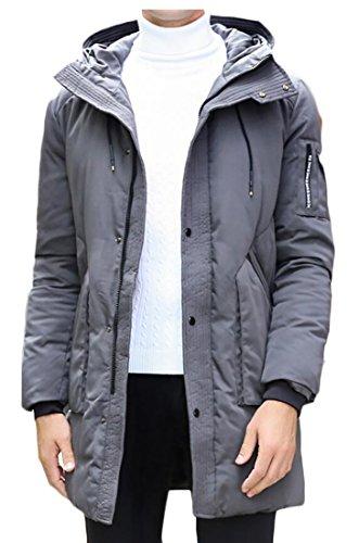 Casual Down Hoodies Gery Warm Puffer Jacket Generic Men Padded Tqwz7S
