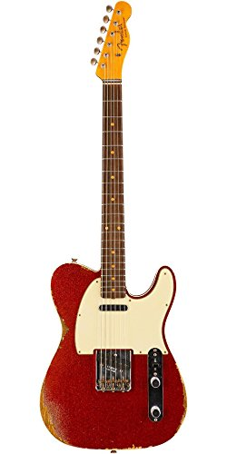 60s Custom Telecaster - Fender Custom Shop 1960 Relic Telecaster Electric Guitar Aged Red Sparkle