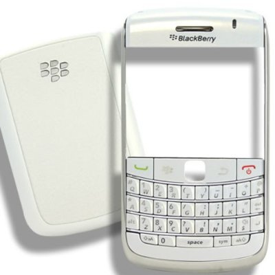 Original Genuine OEM BlackBerry Bold 9700 Pearl White Front Bezel housing Faceplate Fascia Plate Panel Cover Case+Battery Back Door Repair Replace Compatible (Phone White Fascia Covers)