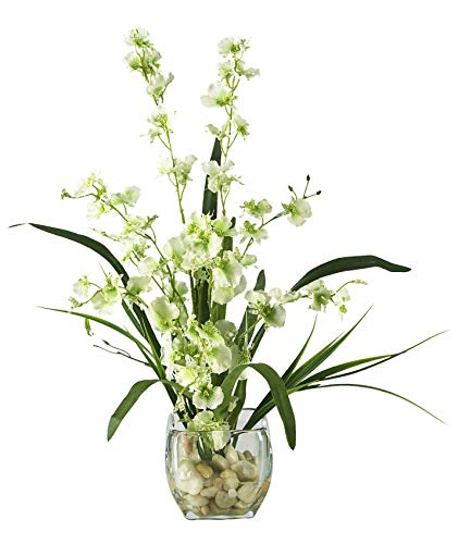 Artificial Flowers -Green Dancing Lady Orchid Liquid Illusion Flower Arrangement