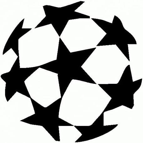 UEFA Champions League-Skin Prespaziato-color negro-20 cm: Amazon ...