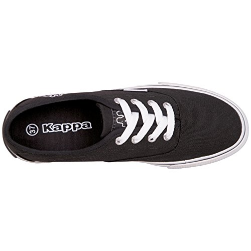 Kappa SLEEK Footwear Unisex-Erwachsene Sneakers Schwarz (1110 black/white)