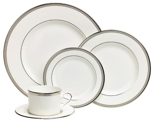 - Lenox Murray Hill Platinum-Banded Bone China 5-Piece Place Setting, Service for 1