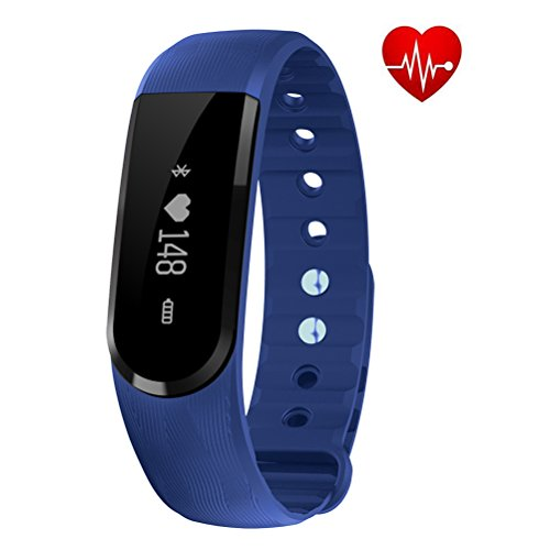 EletePro Fitness Tracker Watch with Heart Rate Monitor, B...
