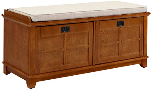 Crosley Furniture Adler Entryway Bench – Warm Oak