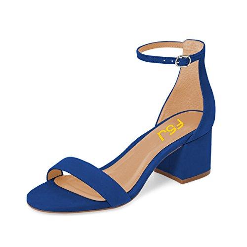 BORCHIE In Metallo Nero con Borchie Peep Toes sandali cinturino tacco basso numero di scarpe 3 4 5 6