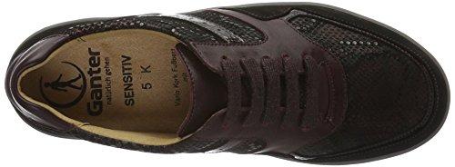 Ganter Damen Sensitiv Klara, Weite K Sneakers, Rot (Vino / Schwarz 4201), 39 EU