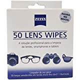 Lens Wipes com 50 Lenços Umidecidos, Carl Zeiss Vision Para Todas as Lentes, Acessórios Para Câmeras Digitais