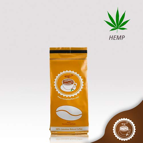HEMP Coffee 100% Colombian Coffee Blend With 100% Natural Hemp. Osmell Coffee Brings the Benefits of Hemp to Your Morning Cup (100% THC Free) Ground Coffee (HEMP Coffee, 12 Ounce)