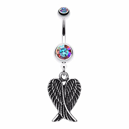 Angel Wing Heart WildKlass Belly Button (Angel Belly Ring)