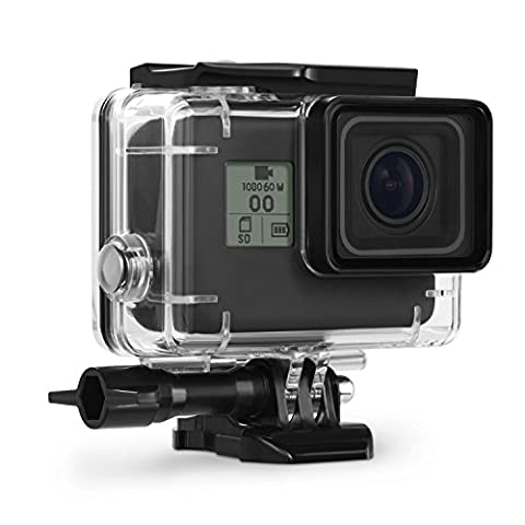 Kupton Housing Case for GoPro Hero 5 Black Waterproof Case Diving Protective Housing Shell 45m with Bracket Accessories for Go Pro Hero5 Action (Gopro Case And Accessories)