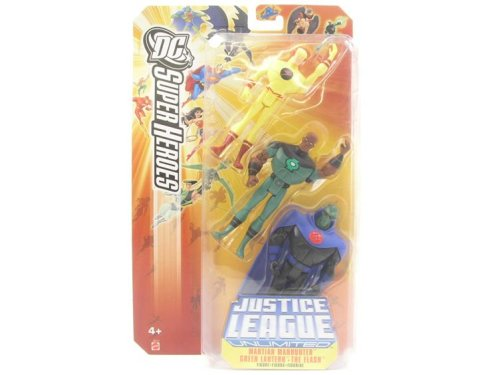 Justice League DC Super Heroes: Martian Manhunter, Green Lantern & The Flash (Best Episodes Of Justice League Unlimited)