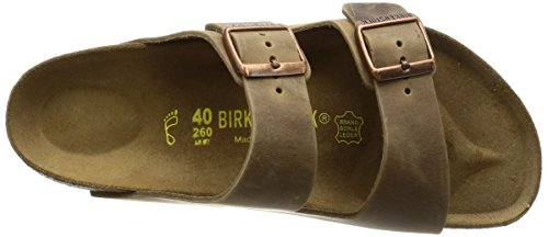 Birkenstock ARIZONA  FL 352703 - Sandalias de cuero unisex Tabaco