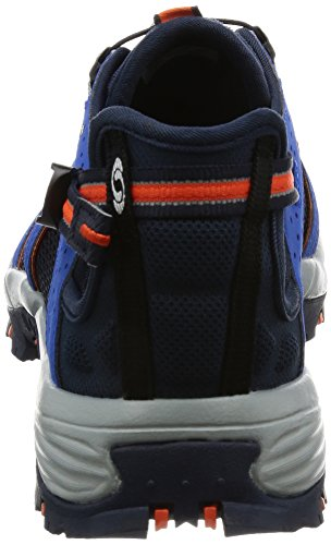 Salomon Mens Tech Amphib 3 Chaussure De Cross-country Nautique Bleu, Blazer Marine, Flamme