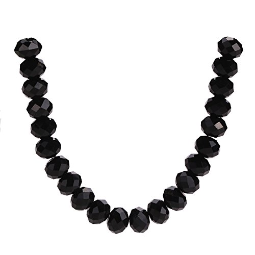 - 500Pcs 3mm 4mm 6mm 5040# Faceted Loose Rondelle Crystal Glass Beads Spacer Lot Colors U Pick (3mm, Black)
