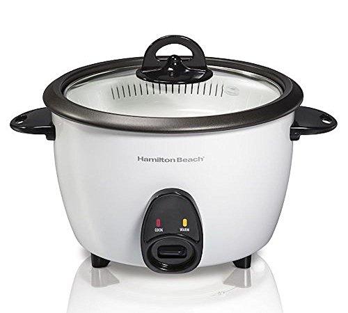 Hamilton Beach 37516 Rice Cooker & Food Steamer, White - Hamilton Beach Rice