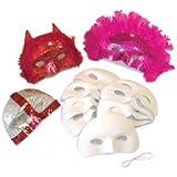 Creation Station New Masks Half-Face FlockFinish with Elastic , Pack of 10,  White