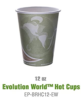 Eco-Products - Recycled Content Paper Cup - 12 oz. Hot Coffee Cup - EP-BRHC12-EW (20 packs of 50)