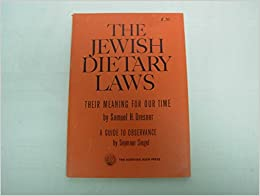 Book The Jewish Dietary Laws - Their Meaning for Our Time & a Guide to Observance