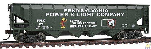 40' 4-Bay Offset Hopper - Ready to Run -- Pennsylvania Power & Light PPLX ()