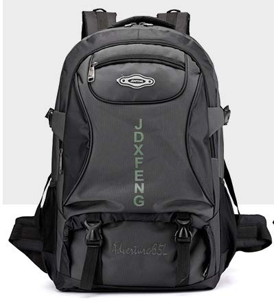 - School Bag Travel Agency Sports and Leisure Backpack Female Outdoor Men's Travel Backpack Mountaineering Bag Ultralight Nylon Mountaineering Outdoor Camping Sports 60L Large Capacity,Gray