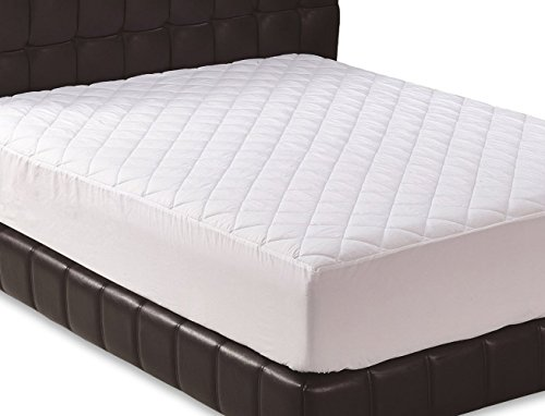 Quilted Fitted Mattress Pad (King) - Mattress...