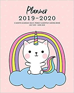 Planner 2019-2020 12 Month Academic Daily, Weekly & Monthly ...