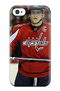 For Iphone 4/4s Premium Tpu Case Cover Washington Capitals Hockey Nhl (28) Protective Case