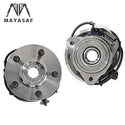 MAYASAF 515052 [2 Pack, 4WD/AWD Only] Front Wheel Hub Bearing Assembly Fit 1995-2001 Ford Explorer, 2001-05 Explorer Sport Trac, 2003-09 Ranger, 2003-09 Mazda B4000, 4x4 4WD/AWD Models, 5 Lugs w/ABS: Automotive
