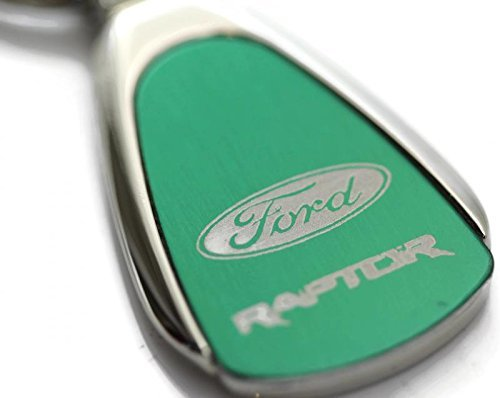 Au-Tomotive Gold DanteGTS Ford Raptor F-150 Logo Green Tear Drop Key Chain INC