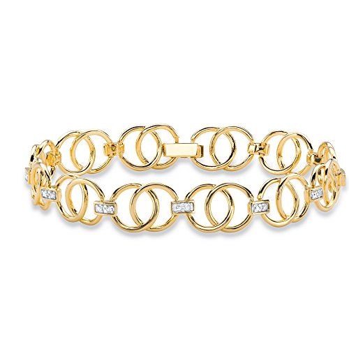 Diamond Accent Circle Bracelet - 4