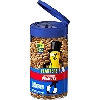 Planters Pop & Pour Dry Roasted Peanuts, (7 oz. Jar)