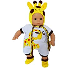 """My Brittany's """"I'm a Little Giraffe"""" Outfit for Bitty Baby and Bitty Twins Dolls- 15 Inch Baby Doll Clothes"""