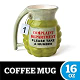 "BigMouth Inc Grenade Mug - ""Take a Number"" Ceramic Funny Coffee, Tea, Hot Chocolate Mug Gift"