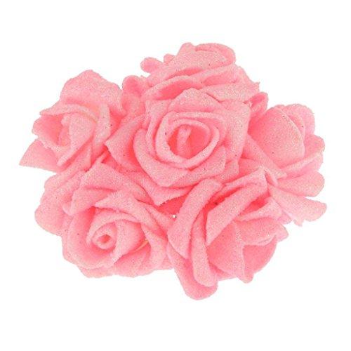 12 pcs Artificial Foam Rose PE Floral Flowers Bridal Wedding Decor 8 cm (Pink) (Styrofoam Rose Cones compare prices)