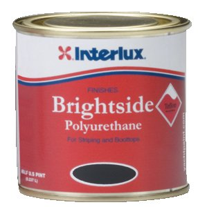 Interlux Y4258/HP Black Brightside Boottop Paint (Half Pint) by Interlux