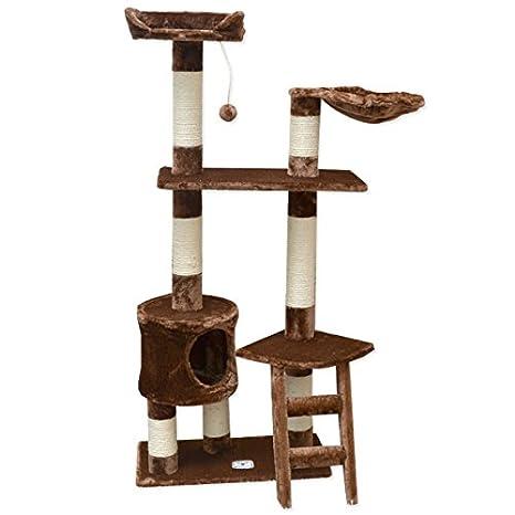 """Rascador para gatos """"PIA"""" marrón 142cm árbol rascador poste"""